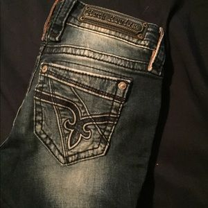 Rock Revivals skinny jeans, dark wash